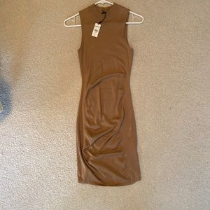 Express tan sleeve less dress
